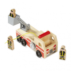 camion bomberos de madera