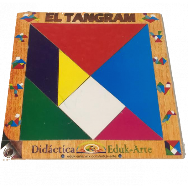 tangram de madera
