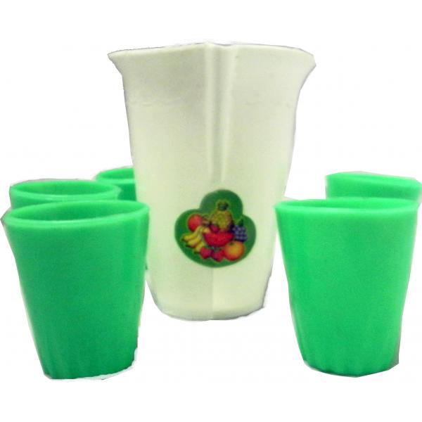 Juego de Jarra con Vasos plástico